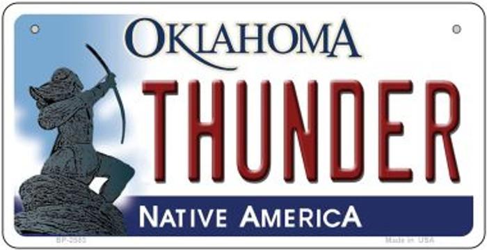 Thunder Oklahoma Novelty Metal Bicycle Plate BP-2583