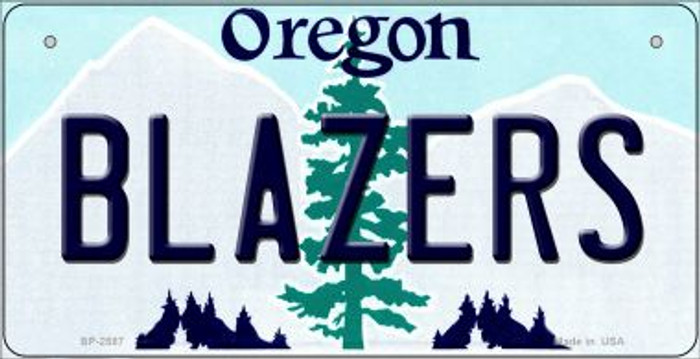 Blazers Oregon Novelty Metal Bicycle Plate BP-2587
