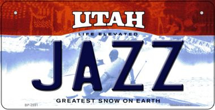 Jazz Utah Novelty Metal Bicycle Plate BP-2591