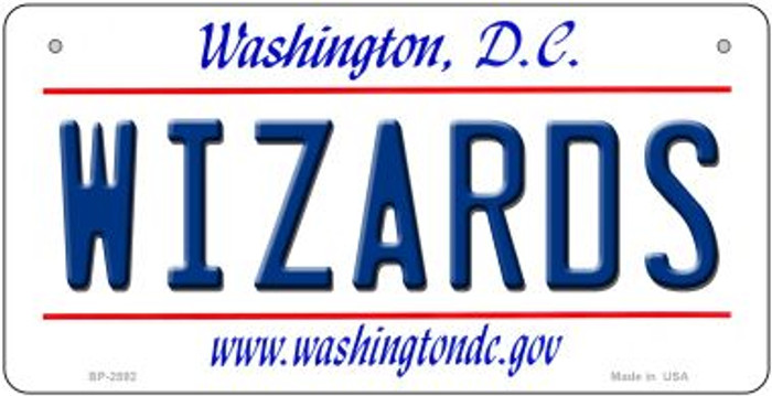 Wizards Washington DC Novelty Metal Bicycle Plate BP-2592