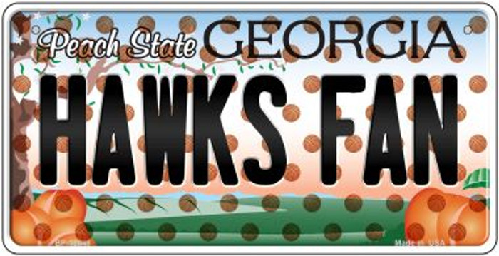 Hawks Fan Georgia Novelty Metal Bicycle Plate BP-10848