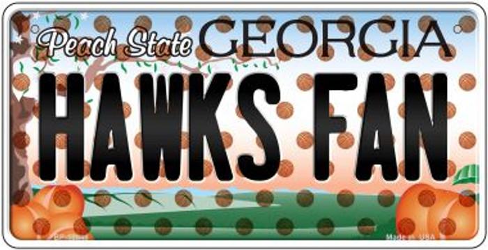 Hawks Fan Georgia Novelty Metal Bicycle Plate BP-10848