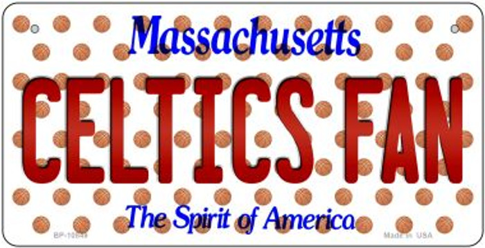 Celtics Fan Massachusetts Novelty Metal Bicycle Plate BP-10849
