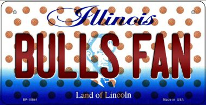 Bulls Fan Illinois Novelty Metal Bicycle Plate BP-10851