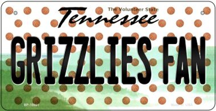Grizzlies Fan Tennessee Novelty Metal Bicycle Plate BP-10861