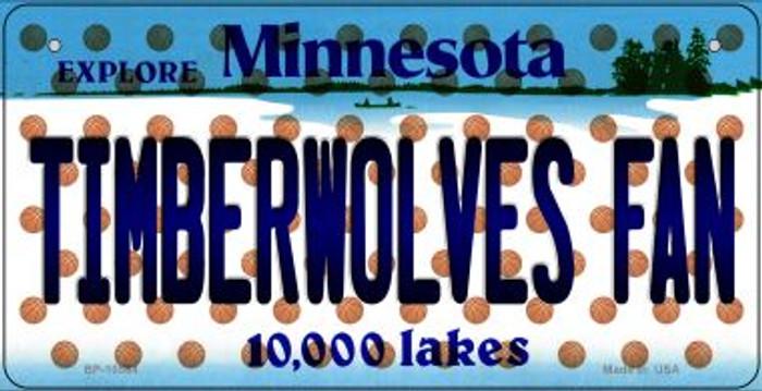 Timberwolves Fan Minnesota Novelty Metal Bicycle Plate BP-10864