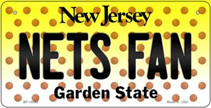 Nets Fan New Jersey Novelty Metal Bicycle Plate BP-10865