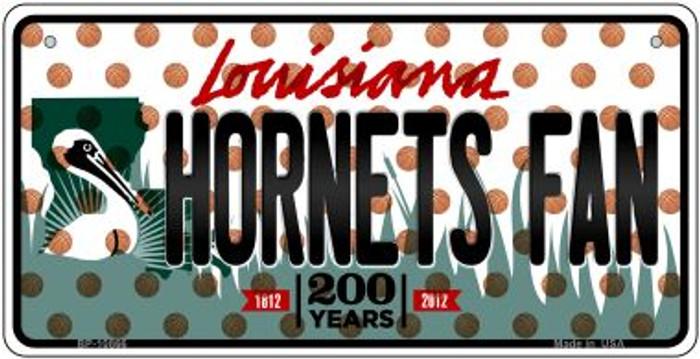 Hornets Fan Louisiana Novelty Metal Bicycle Plate BP-10866