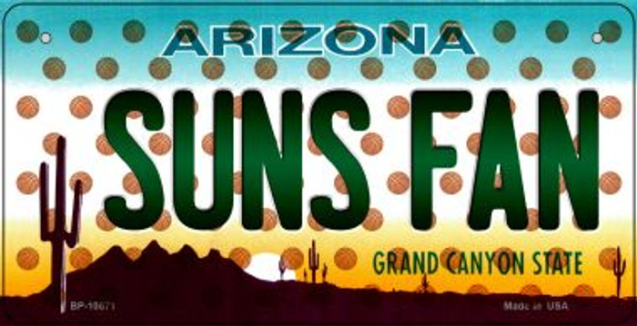 Suns Fan Arizona Novelty Metal Bicycle Plate BP-10871