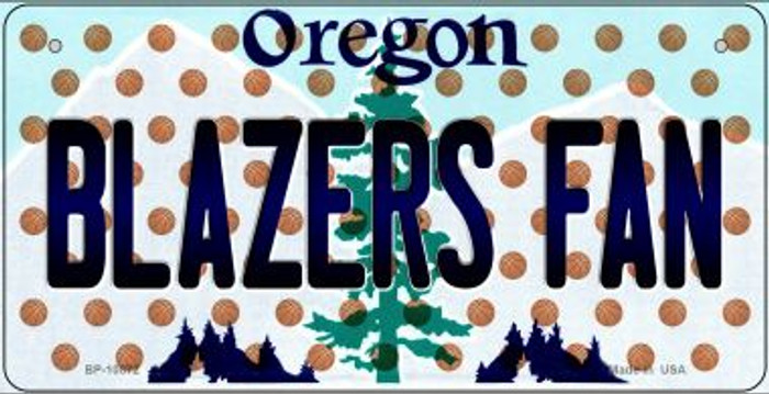 Blazers Fan Oregon Novelty Metal Bicycle Plate BP-10872