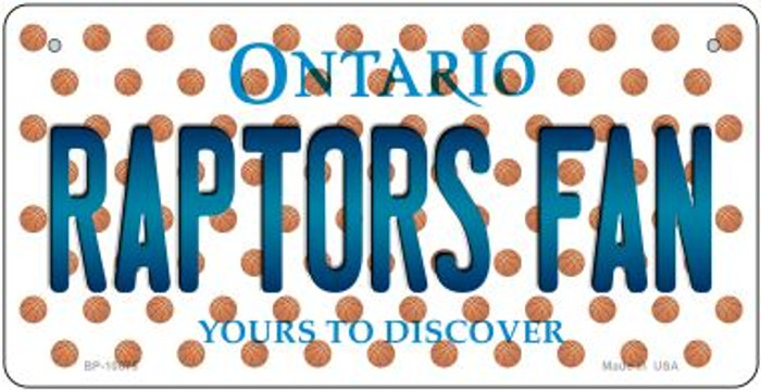 Raptors Fan Ontario Novelty Metal Bicycle Plate BP-10875