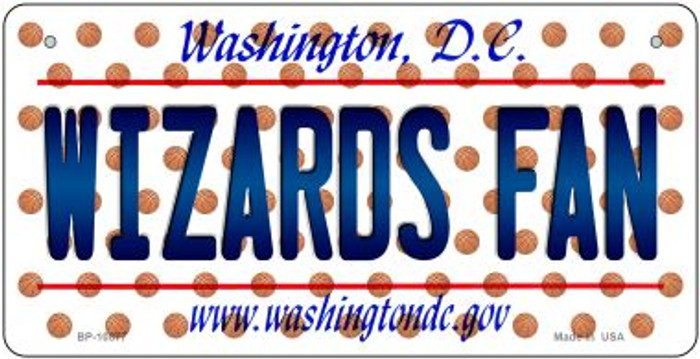 Wizards Fan Washington DC Novelty Metal Bicycle Plate BP-10877