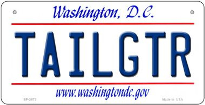 Tailgtr Washington DC Novelty Metal Bicycle Plate BP-3673
