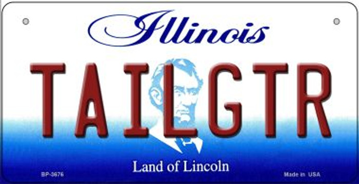 Tailgtr Illinois Novelty Metal Bicycle Plate BP-3676