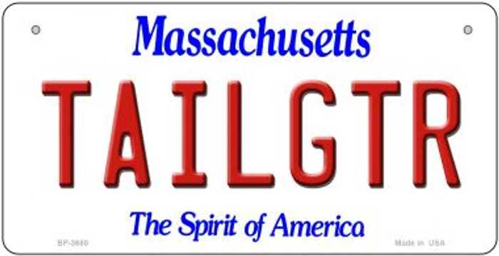 Tailgtr Massachusetts Novelty Metal Bicycle Plate BP-3680