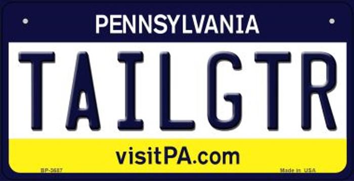 Tailgtr Pennsylvania Novelty Metal Bicycle Plate BP-3687