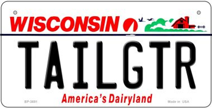 Tailgtr Wisconsin Novelty Metal Bicycle Plate BP-3691