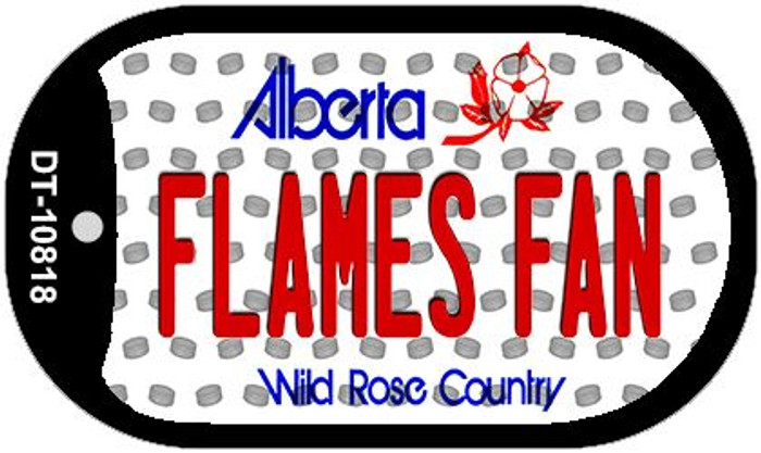 Flames Fan Alberta Novelty Metal Dog Tag Necklace DT-10818