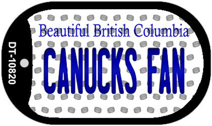 Canucks Fan British Columbia Novelty Metal Dog Tag Necklace DT-10820