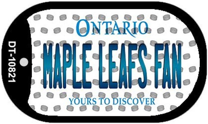 Maple Leafs Fan Ontario Novelty Metal Dog Tag Necklace DT-10821