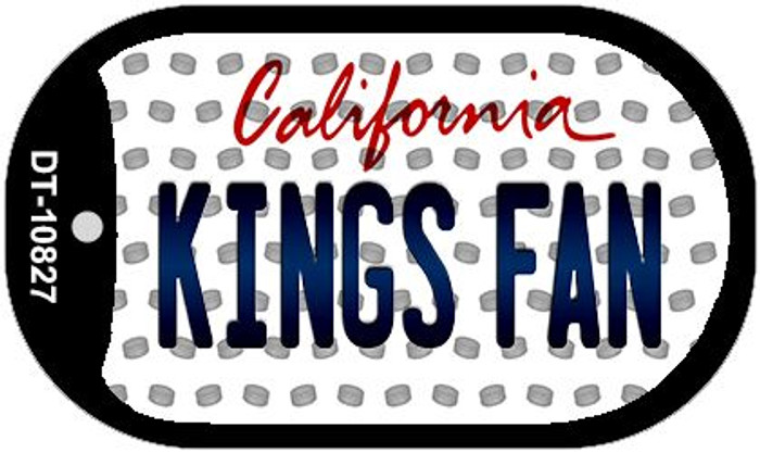 Kings Fan California Novelty Metal Dog Tag Necklace DT-10827