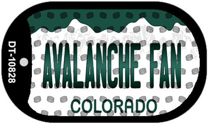 Avalanche Fan Colorado Novelty Metal Dog Tag Necklace DT-10828