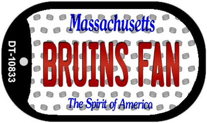 Bruins Fan Massachusetts Novelty Metal Dog Tag Necklace DT-10833