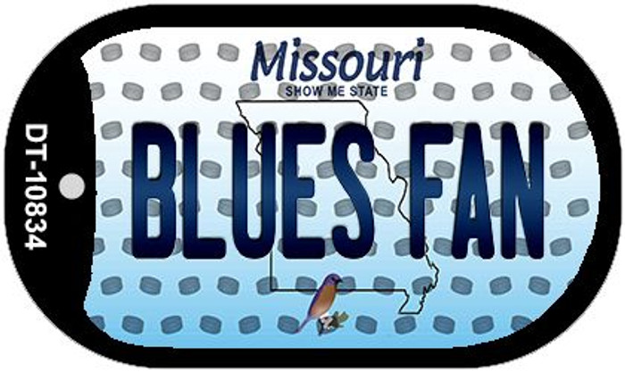 Blues Fan Missouri Novelty Metal Dog Tag Necklace DT-10834