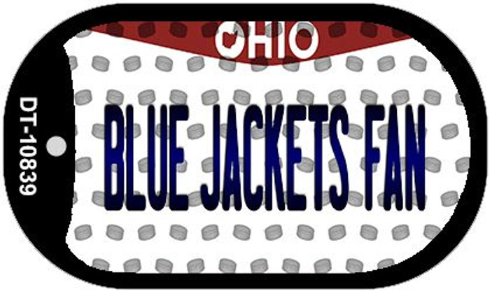 Blue Jackets Fan Ohio Novelty Metal Dog Tag Necklace DT-10839