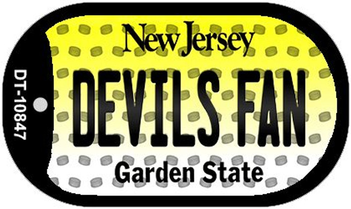 Devils Fan New Jersey Novelty Metal Dog Tag Necklace DT-10847