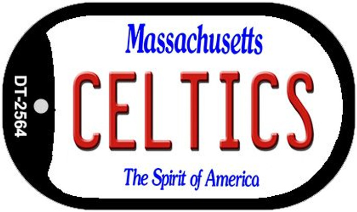 Celtics Massachusetts Novelty Metal Dog Tag Necklace DT-2564