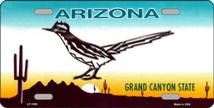 Roadrunner Arizona Novelty Metal License Plate