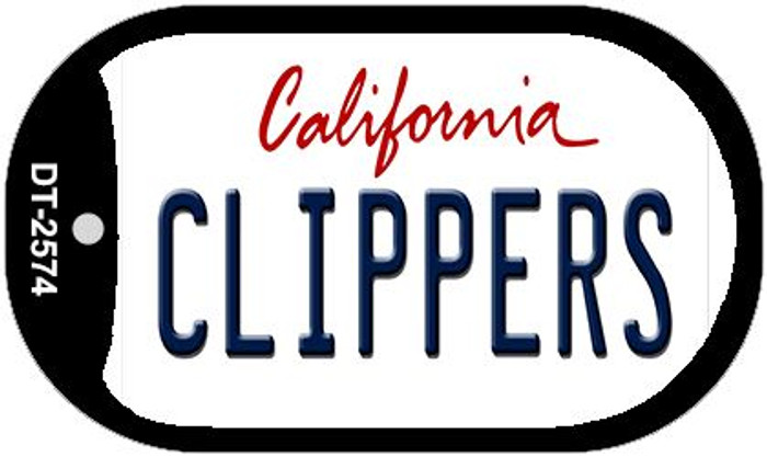 Clippers California Novelty Metal Dog Tag Necklace DT-2574