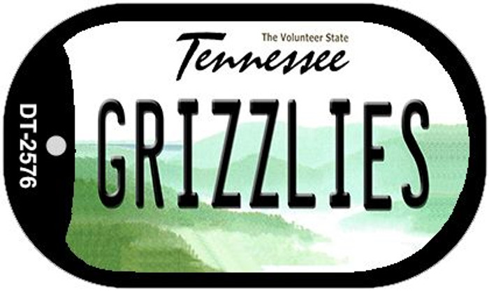 Grizzlies Tennessee Novelty Metal Dog Tag Necklace DT-2576
