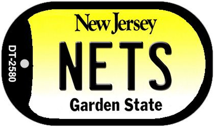 Nets New Jersey Novelty Metal Dog Tag Necklace DT-2580