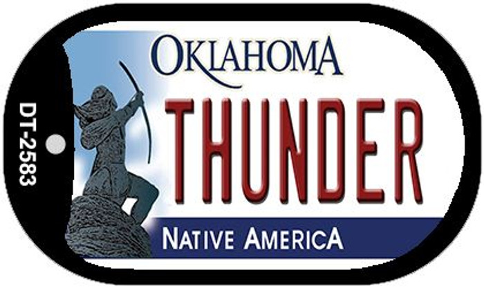 Thunder Oklahoma Novelty Metal Dog Tag Necklace DT-2583