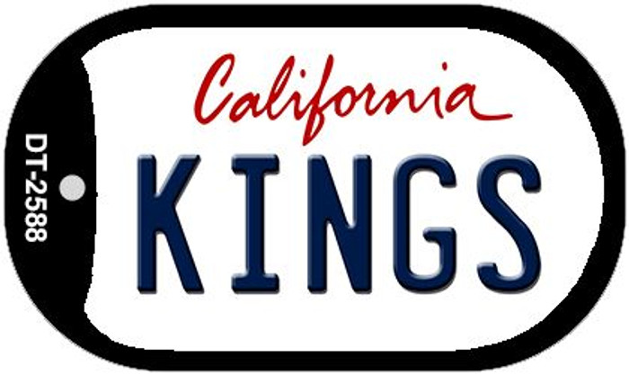Kings California Novelty Metal Dog Tag Necklace DT-2588