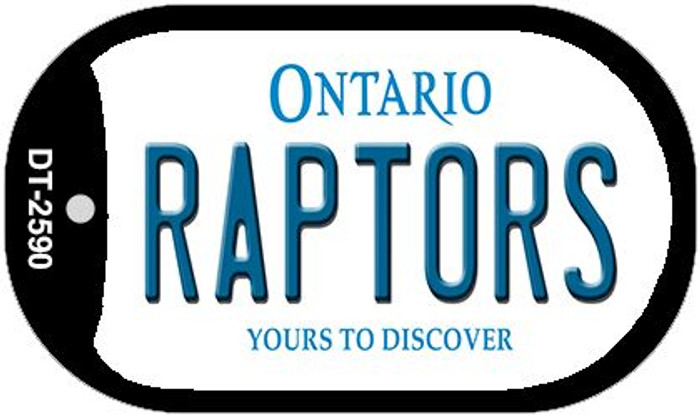 Raptors Ontario Novelty Metal Dog Tag Necklace DT-2590