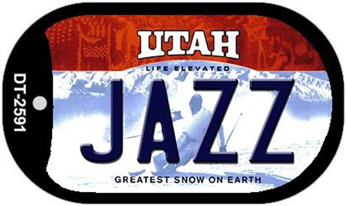 Jazz Utah Novelty Metal Dog Tag Necklace DT-2591