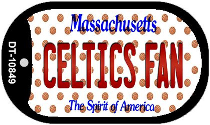 Celtics Fan Massachusetts Novelty Metal Dog Tag Necklace DT-10849