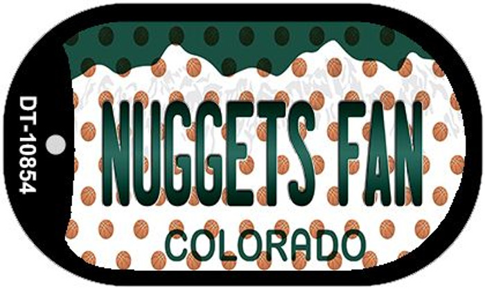 Nuggets Fan Colorado Novelty Metal Dog Tag Necklace DT-10854