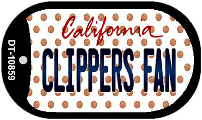 Clippers Fan California Novelty Metal Dog Tag Necklace DT-10859