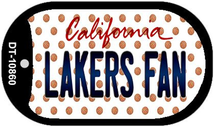 Lakers Fan California Novelty Metal Dog Tag Necklace DT-10860