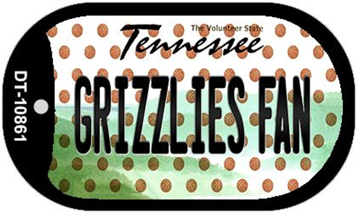 Grizzlies Fan Tennessee Novelty Metal Dog Tag Necklace DT-10861