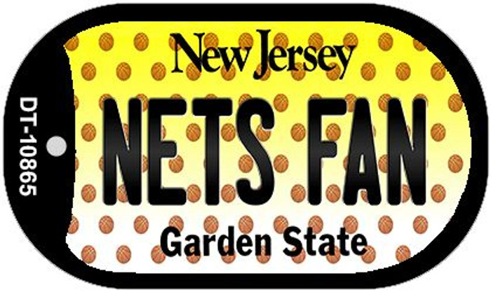 Nets Fan New Jersey Novelty Metal Dog Tag Necklace DT-10865
