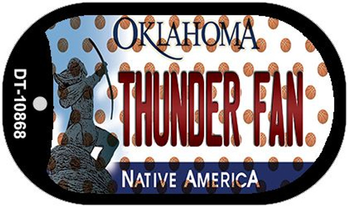 Thunder Fan Oklahoma Novelty Metal Dog Tag Necklace DT-10868