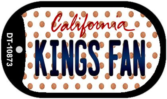 Kings Fan California Novelty Metal Dog Tag Necklace DT-10873