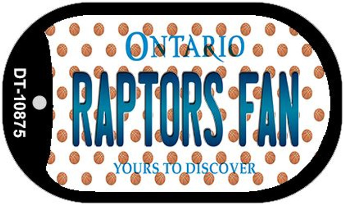 Raptors Fan Ontario Novelty Metal Dog Tag Necklace DT-10875