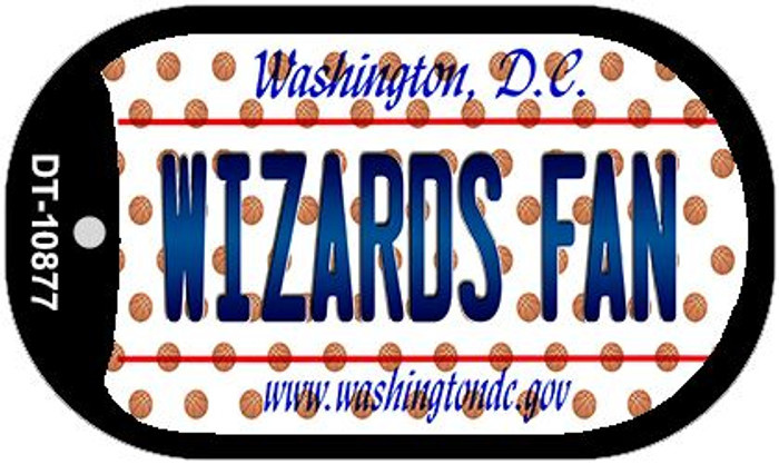 Wizards Fan Washington DC Novelty Metal Dog Tag Necklace DT-10877