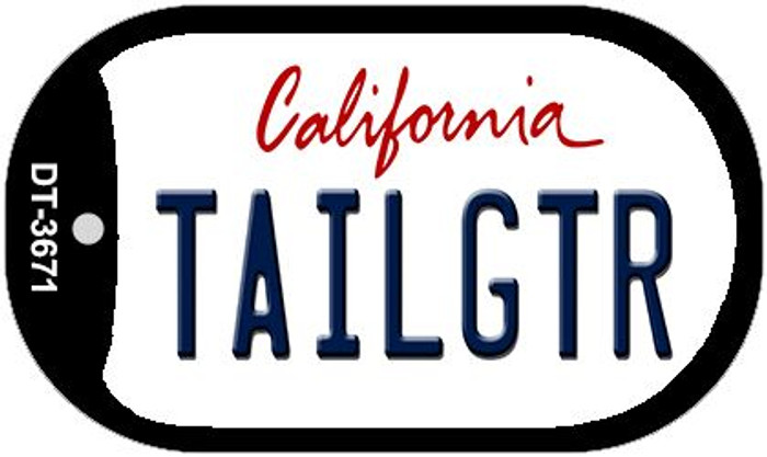 Tailgtr California Novelty Metal Dog Tag Necklace DT-3671